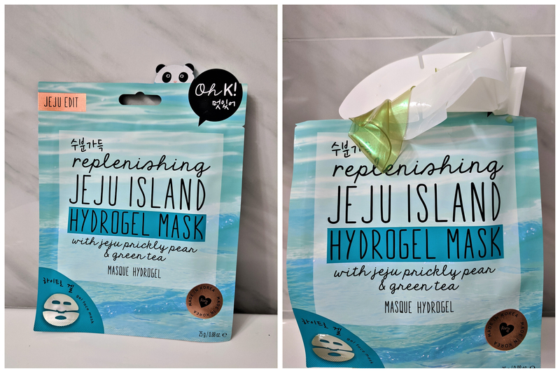 Oh K! Replenishing Jeju Island Hydrogel Mask with Jeju Prickly Pear and Green Tea