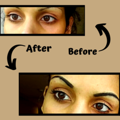 Look before and after loreal bambi eye mascara