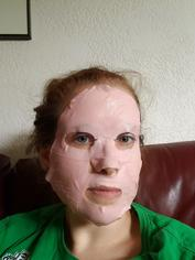 Look watermelon face mask