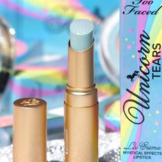 Look survivor peach review too faced la creme mystical lipstick from too faced 4