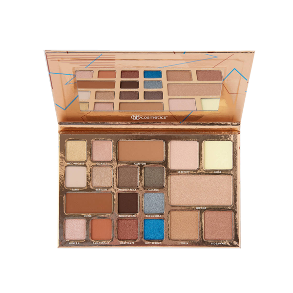 0 bh cosmetics desert oasis 19 color shadow   highlighter palette