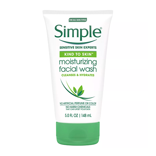 Refreshing facial wash from simple 1