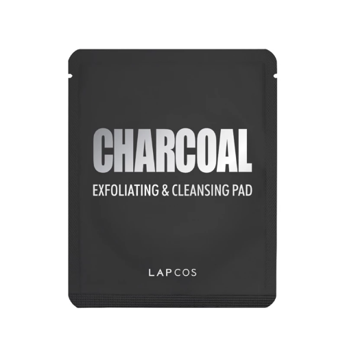 Charcoal exfoliating and cleansing pad from lapcos 0