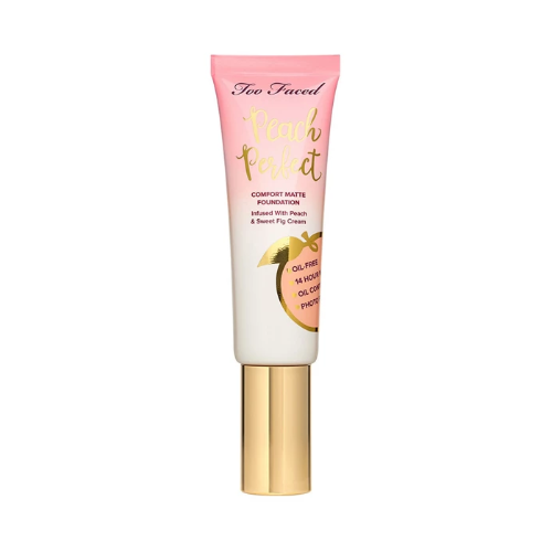 Peach perfect comfort matte foundation from too faced 0