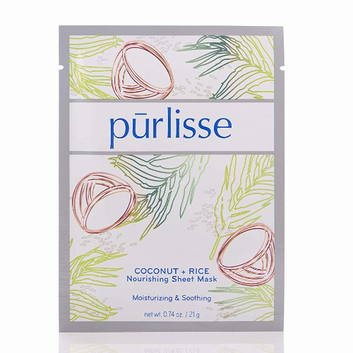 Coconut and rice sheet mask from purlisse 0