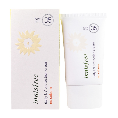 Daily uv protection cream sebum care broad spectrum spf 35 from innisfree 0