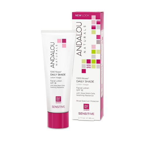 1000 roses daily shade facial lotion spf 18 from andalou naturals 0
