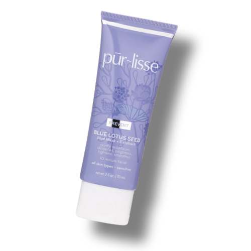 Blue lotus seed mud mask exfoliant from purlisse  2