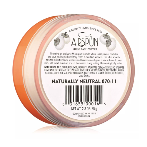 Loose face powder from coty airspun 2