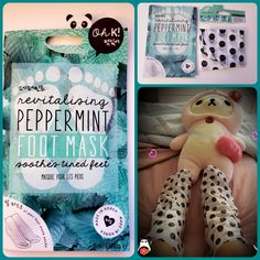 Look peppermint feet mask