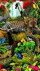 Look jungle animals wallpaper 11064205